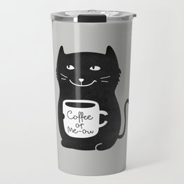 Coffee or Me-ow Travel Mug
