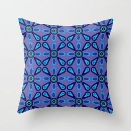Lavender Retro Tile Throw Pillow