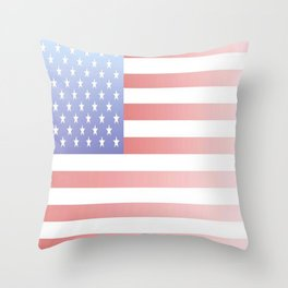 flag of the usa - with color gradient Throw Pillow
