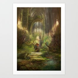 The Hylian Champion Awakes Art Print