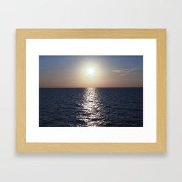 Sunset, Santorini Framed Art Print