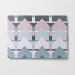Scandi Waves #society6 #scandi #pattern Metal Print