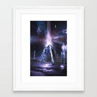 heroes of olympus Framed Art Prints featuring Olympus by Benjamin Parslow