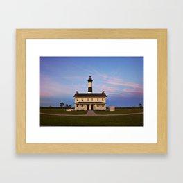 Bodie Island Lighthouse at Sunset Framed Art Print