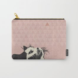 Cat on Pink - Lo Lah Studio Carry-All Pouch