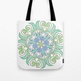 green and blue color mandala Tote Bag