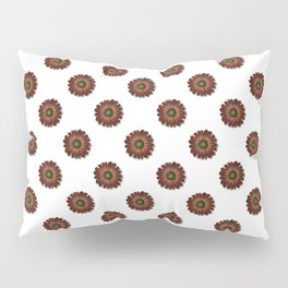 """Red Daisy, (pattern)"" Pillow Sham"