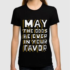 Happy Hunger Games! Womens Fitted Tee Black SMALL