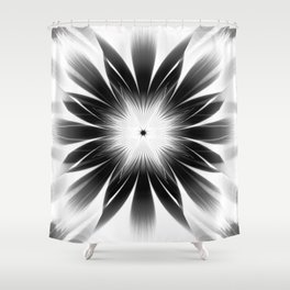 Dark Starburst Shower Curtain