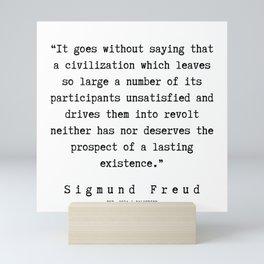 57 |   Sigmund Freud Quotes | 190926 Mini Art Print