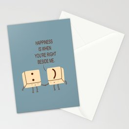 Happy Smile Keyboard Buttons Stationery Cards