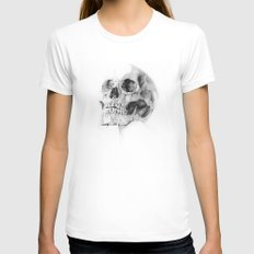 Skull 52 LARGE White Womens Fitted Tee