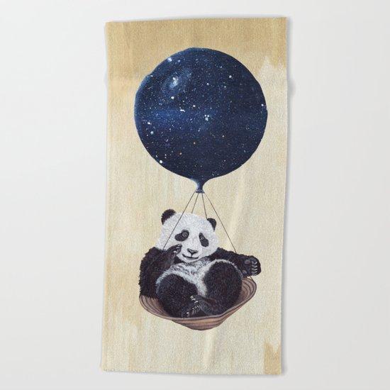 Panda in space Beach Towel