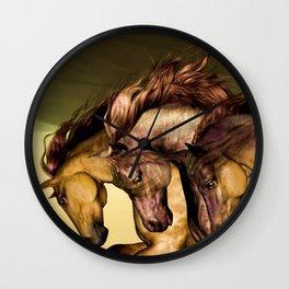 HORSES-Gunmetal Wall Clock