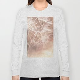 Pink Macro (2) Dandelion Flower - Floral Nature Photography Art and Accessories Long Sleeve T-shirt