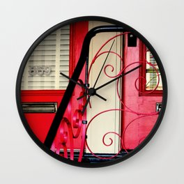 The Traditional Red Door Plus... Wall Clock