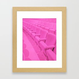 Pink Theater Seats in Palm Springs Framed Art Print