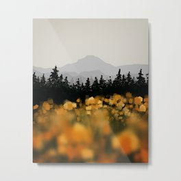 All Yellow Metal Print