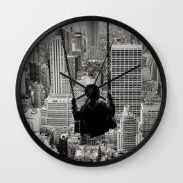 Playground Swings by GEN Z Wall Clock