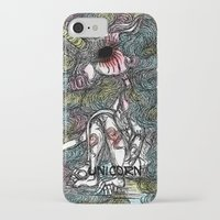unicorn iPhone & iPod Cases featuring Unicorn by AKIKO