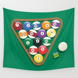 Billiard Balls Rack - Boules de billard Wall Tapestry