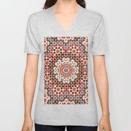 N64 - Traditional Geometric Moroccan Vintage Style Artwork Unisex V-Neck