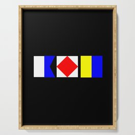 Nautical Flags AFK Away From Keyboard Serving Tray