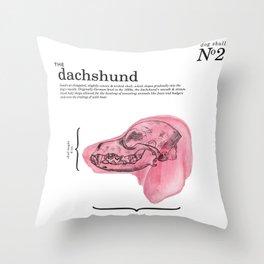 The Dachshund Throw Pillow