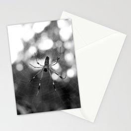black and white spider Stationery Cards