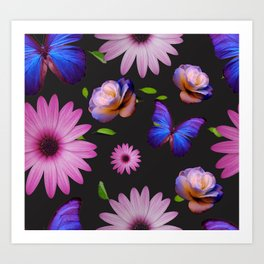 Spring invading the house with flowers Art Print