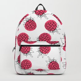 Raspberry pink pattern Backpack