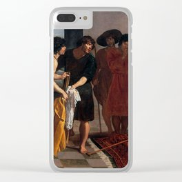 "Diego Velázquez ""Joseph's Tunic"" Clear iPhone Case"