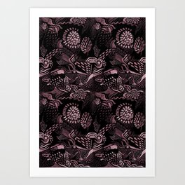 Night birds Art Print