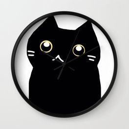 Black cat 589 Wall Clock