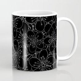 Cherry Blossom Black on White - In Memory of Mackenzie Coffee Mug