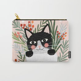Cat on a sock. Holiday. Christmas Carry-All Pouch