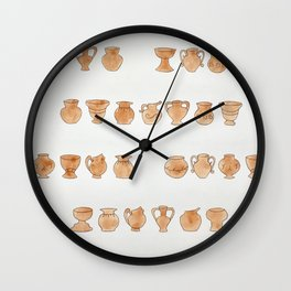 Greek Vases Wall Clock