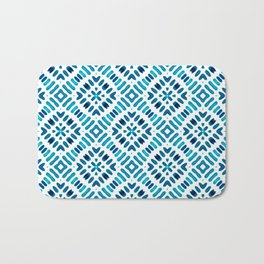 Shibori Watercolour no.7 Turquoise Bath Mat