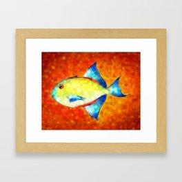 Esperimentoza - gorgeous fish Framed Art Print