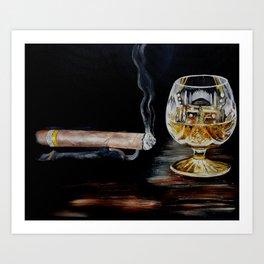 Brandy & Cigar Art Print