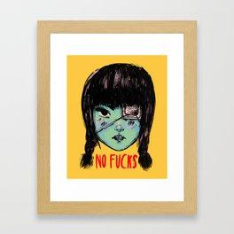 no fucks Framed Art Print