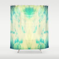 halo Shower Curtains featuring Lemon Halo by Ms Moirai