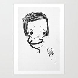 onna no ko Art Print