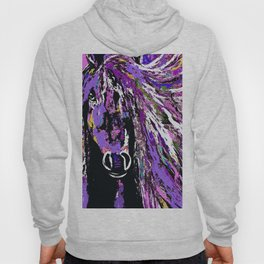 HORSE WILD AND PRETTY OIL PAINTNG Hoody