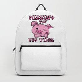Missing You Pig Time | Pink Piglet Backpack