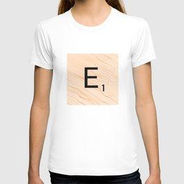 Scrabble E - Large Scrabble Tiles T-shirt