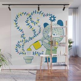 Little gardener bear Wall Mural