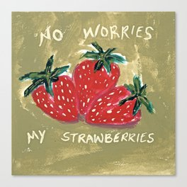 My Strawberries Canvas Print