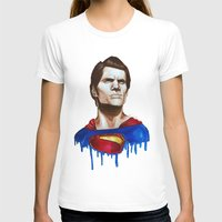 man of steel T-shirts featuring Man Of Steel by Aoife Rooney Art