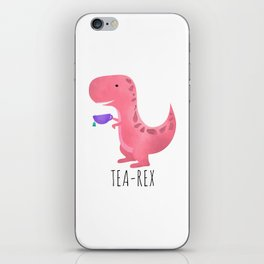 Tea-Rex | Pink iPhone Skin